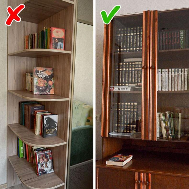 Хаалгатай номын шүүгээ