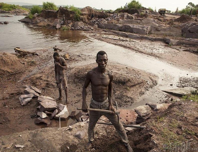 Конго улсын уурхайчид