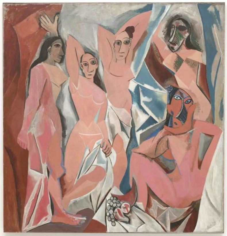 """""""Les Demoiselles d'Avignon"""", Пабло Пикассо"""