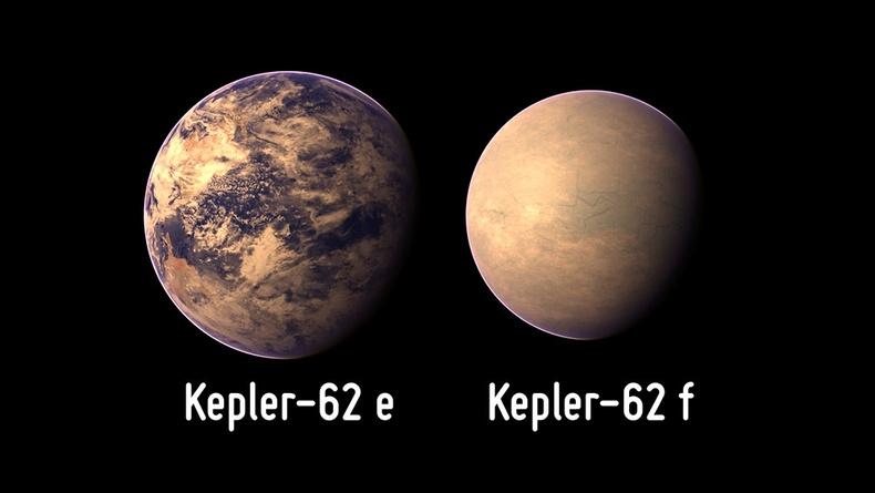 Kepler 62e ба 62f