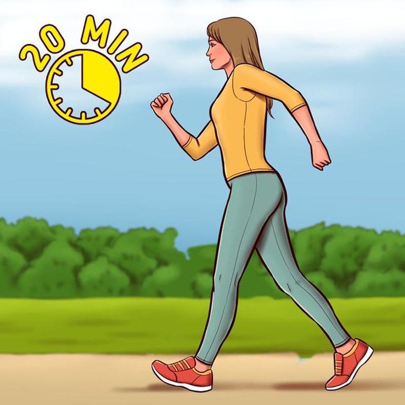 Өдөрт 20 минут алхах эсвэл дасгал хийх
