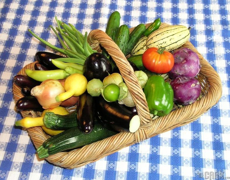 Өргөст хэмх, цуккини, хаш, болон перец