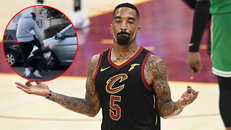 NBA-ын аварга тамирчин бослого гаргагч залуусын нэгийг зоджээ (бичлэг)