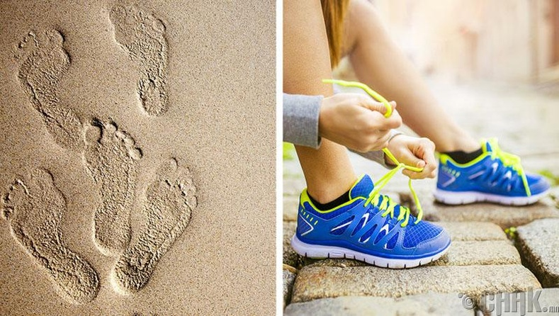 Гүйлтэнд буруу гутал өмсөх