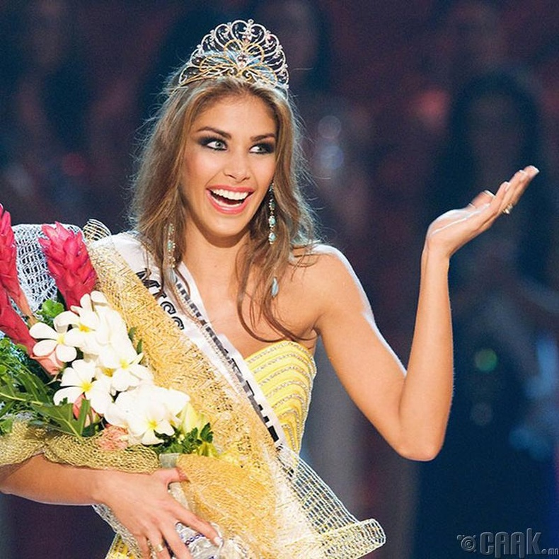 """Miss Universe-2008""-ын ялагч:Венесуэлийн гоо бүсгүй Диана Мендоза, 22 настай, 178 см өндөр."