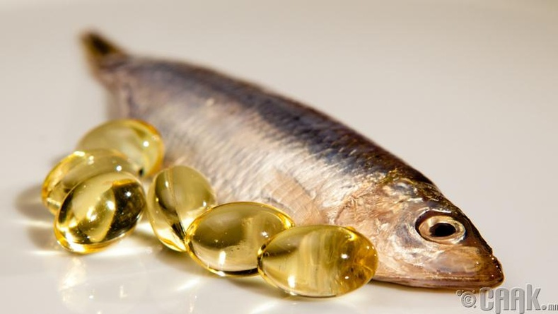 С витамин болон загасны тос хэрэглэх