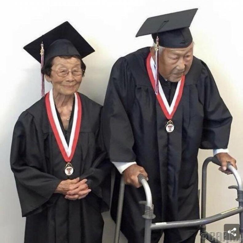 72 настайдаа сургуулиа төгссөн хосууд