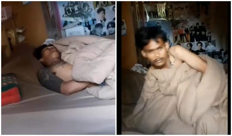 Айлд хулгай хийхээр орсон залуу орон дээр нь тухлан унтаж байгаад цагдаад баригджээ
