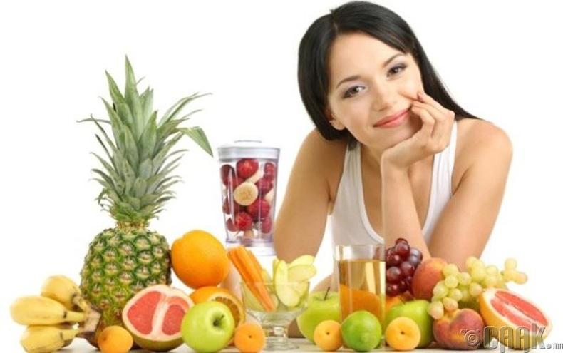 Шим тэжээлтэй жимс сайн идэх