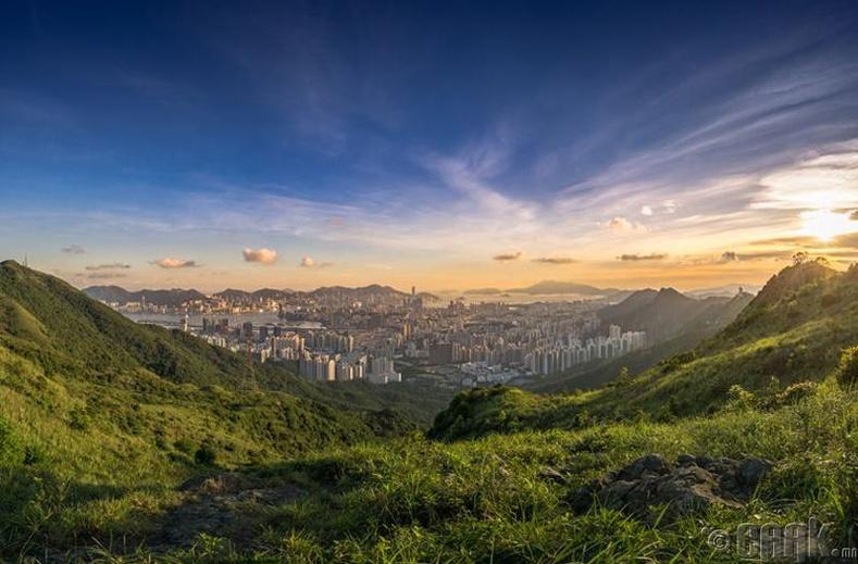 Хонгконг нь зөвхөн тэнгэр багандсан барилгаас бүрддэг