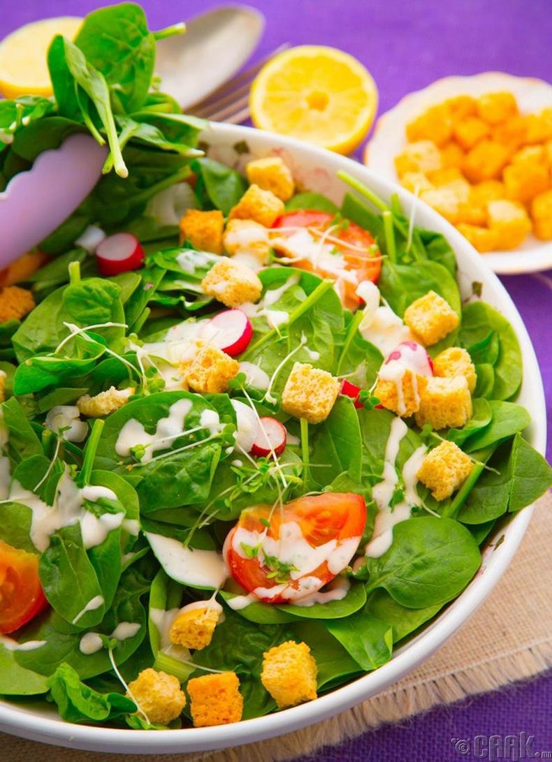 Шинэ ногооны салат