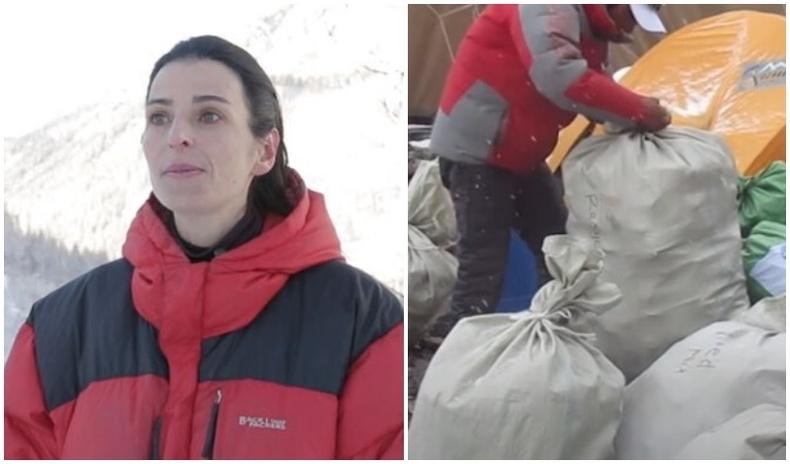 Эверест уулыг цэвэрлэхээр шийдсэн Франц бүсгүй