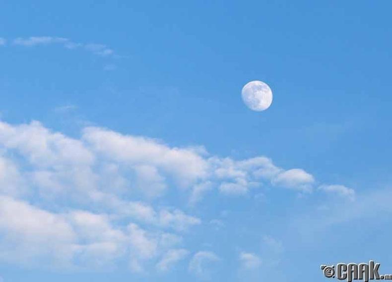 Өдрийн цагаар бид хааяа яагаад сарыг харж болдог вэ?