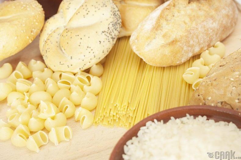 Цагаан талх, гоймон, цагаан будаа