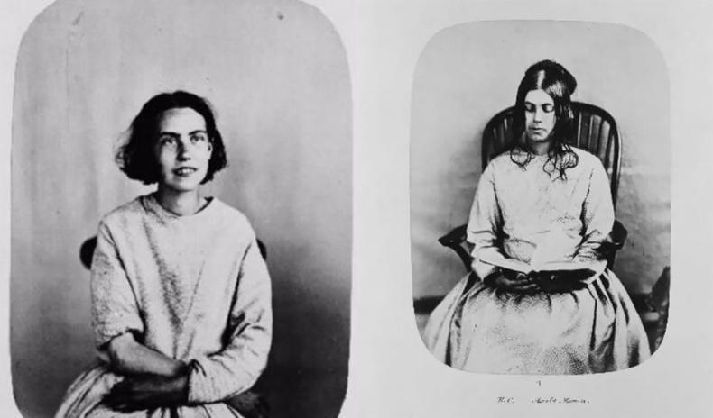 19-р зууны сэтгэцийн эмнэлгийн өвчтөнүүдийн эвгүйцэм хөрөг зургууд
