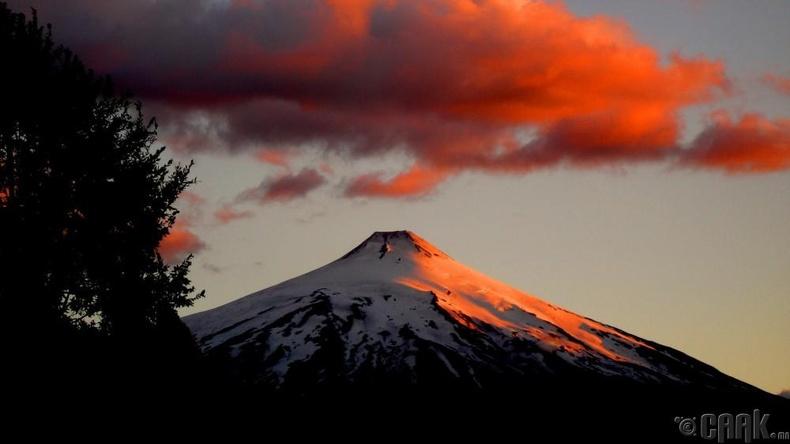 Вилларика галт уул - Чили
