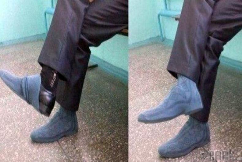 Гутлынгадуур улавч өмсөөрэй гэсэн ч улавч авахаа мартсан байх үед ийн ''аргалав''.