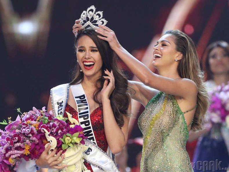 """""""Miss Universe-2018""""-ын ялагч: Филиппиний гоо бүсгүй  Катриона Грэй, 24 настай, 178 см өндөр."""