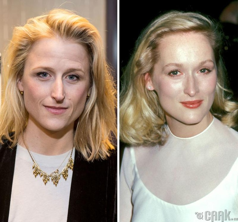 Мэми Гаммер (Mamie Gunner) болон жүжигчин Мэрил Стрип (Meryl Streep)