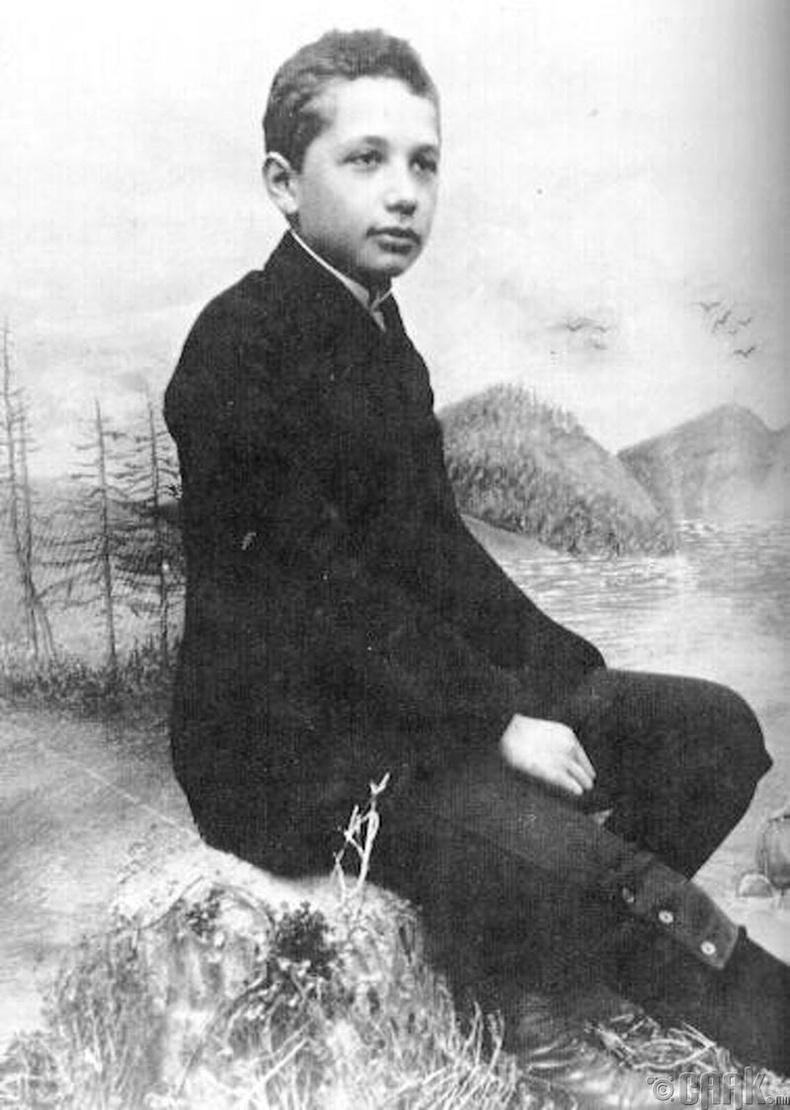 12 настай Альберт Эйнштейн (Albert Einstein) - 1891 он