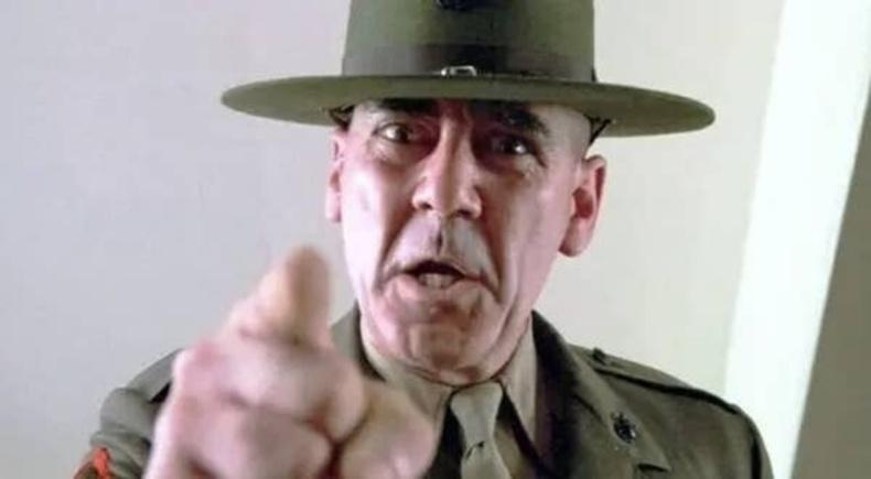 """Р. Ли Эрмей - """"Full Metal Jacket"""" киноны жагсаалын дарга Хартманы дүрд (1987)"""