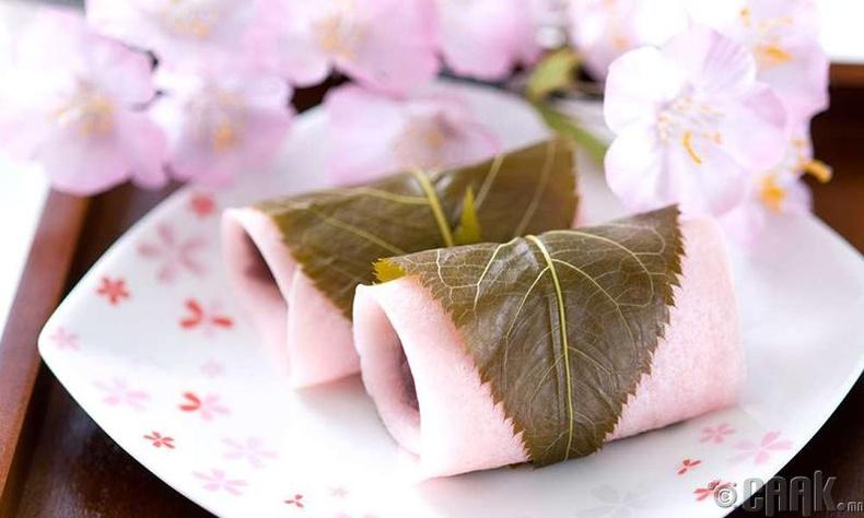 Сакуран дүрстэй хоол, хүнс