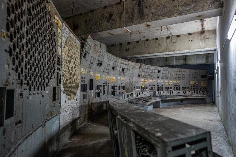 Чернобылийн цөмийн цахилгаан станцын удирдлагын өрөө өнөө цагт
