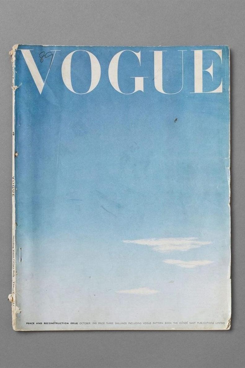 Дэлхийн II дайны дууссаны дараах Vogue сэтгүүлийн нүүр зураг, 1945 оны 10-р сарын дугаар