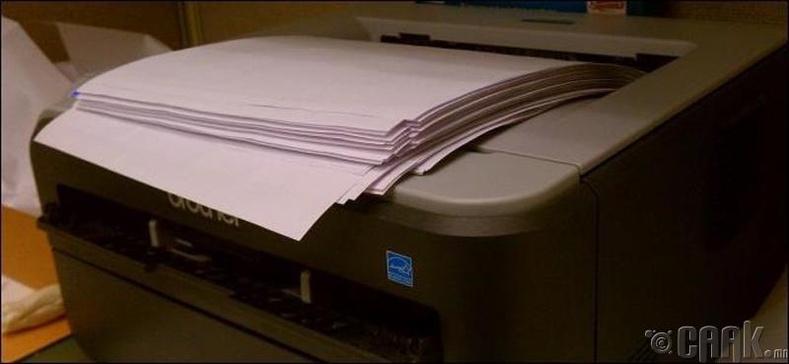 Цаасныхаа хоёр талд хэвлэх