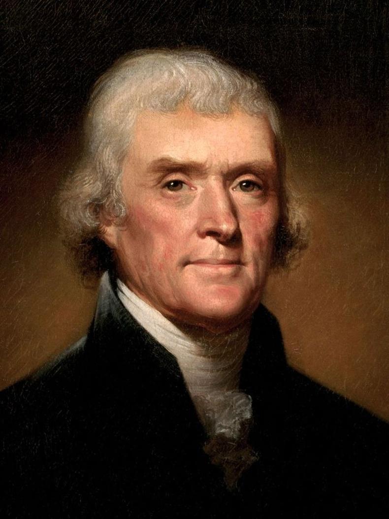 АНУ-ын 3 дахь Ерөнхийлөгч, Тусгаар тогтнолын тунхаглалд гарын үсэг зурсан эрхмүүдийн нэг Томас Жефферсон (Thomas Jefferson)