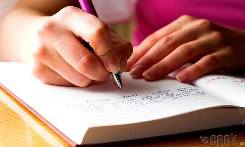 Өөдрөг үгсийг өөртөө бичиж байх