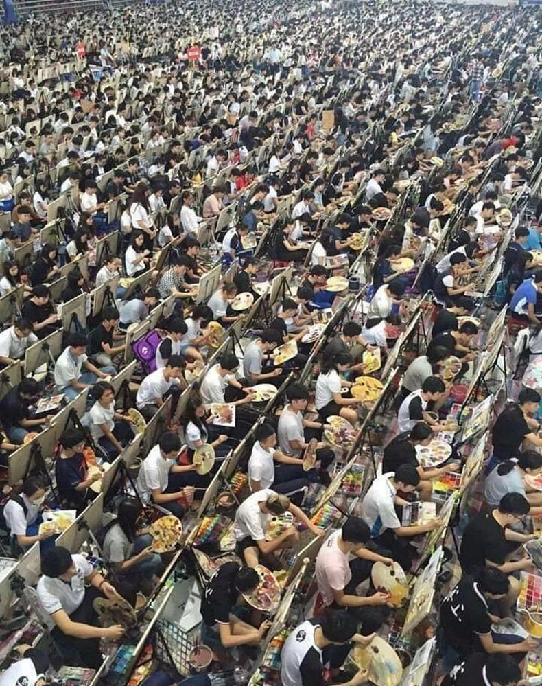 Хятадын дүрслэх урлагийн академийн элсэлтийн шалгалт