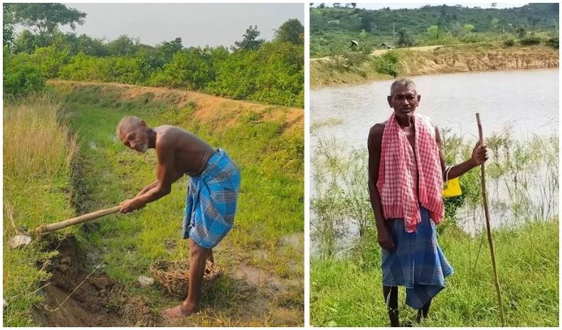 """30 жилийн турш өдөр болгон уул руу явж, нүх ухсан Энэтхэг эр нутагтаа """"баатар"""" болон хүндлэгджээ"""