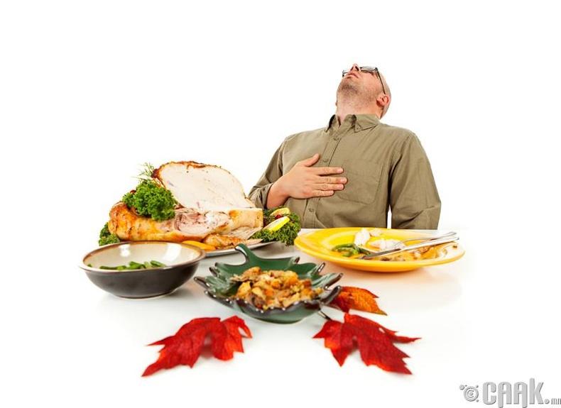 Хоолыг хэтрүүлж идэх