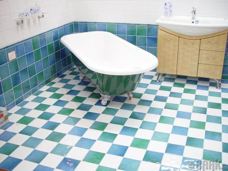 Угаалгын өрөөний толбыг арилгах