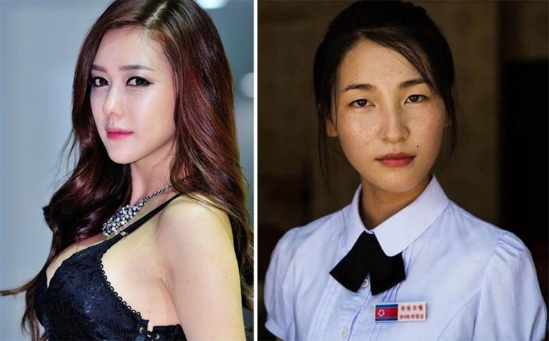 Хойд болон Өмнөд Солонгос охидын ялгаа