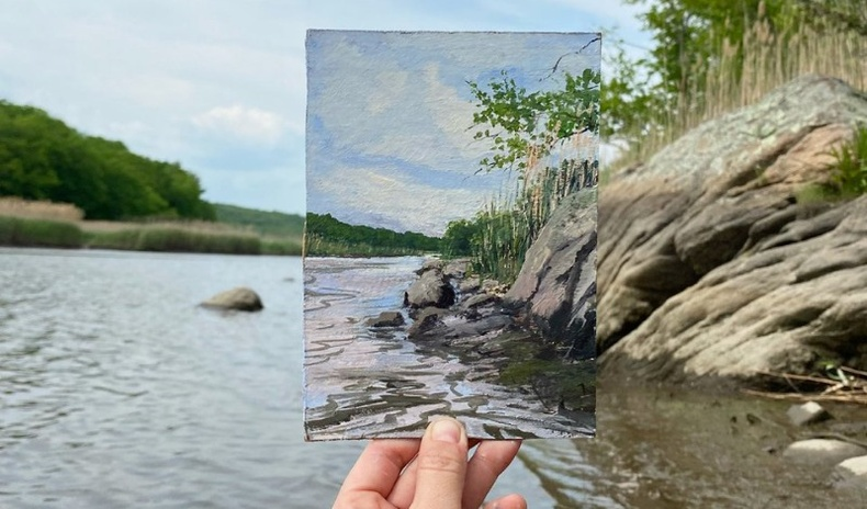 """Байгальтай """"хамтарч"""" зурдаг уран бүтээлчдийн гайхалтай зургууд"""