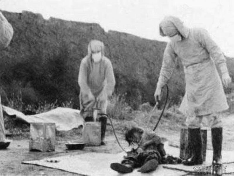 731-р отряд: Хүн дээр хийсэн туршилт