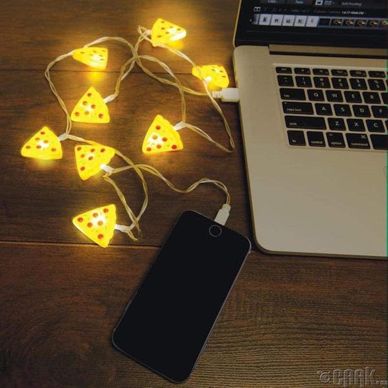 Пиццан гэрэлтэй USB залгуур