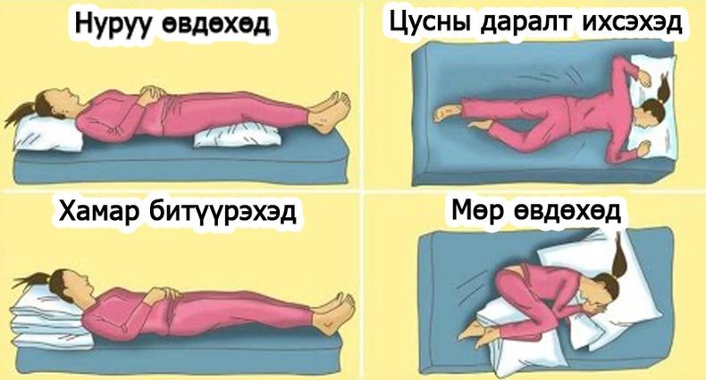 Таны бие өвдөөд унтаж чадахгүй байна уу? Тэгвэл энийг туршаад үзээрэй!