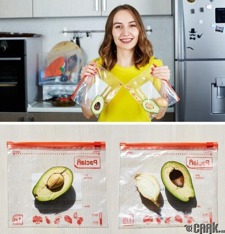 Авокадог  муудахаас сэргийлж зүсэм сонгино хийж хадгалах