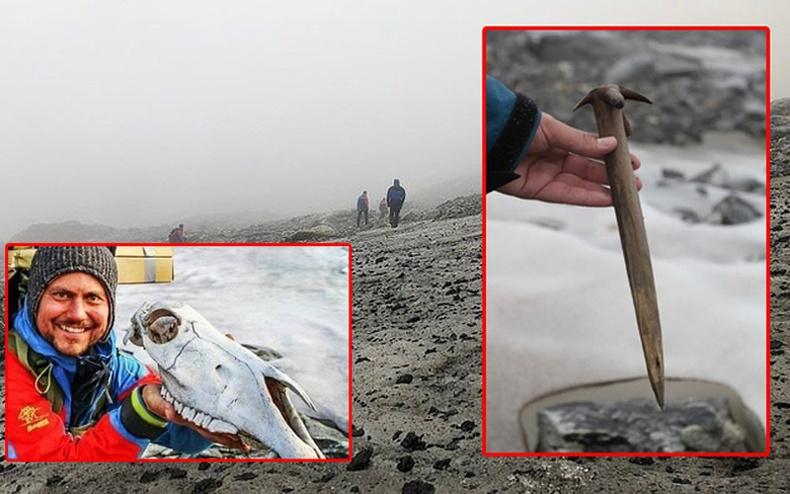 Норвеги дэх хайлсан мөсөн голоос гарч ирсэн эртний гайхалтай олдворууд