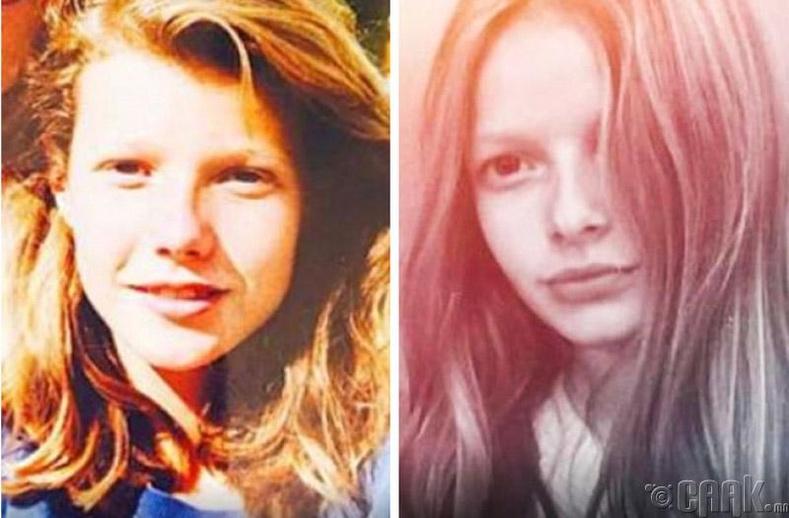 Жүжигчин Гвинет Пэлтроу (Gwyneth Paltrow)  болон түүний охин Эппл Мартин (Apple Martin)