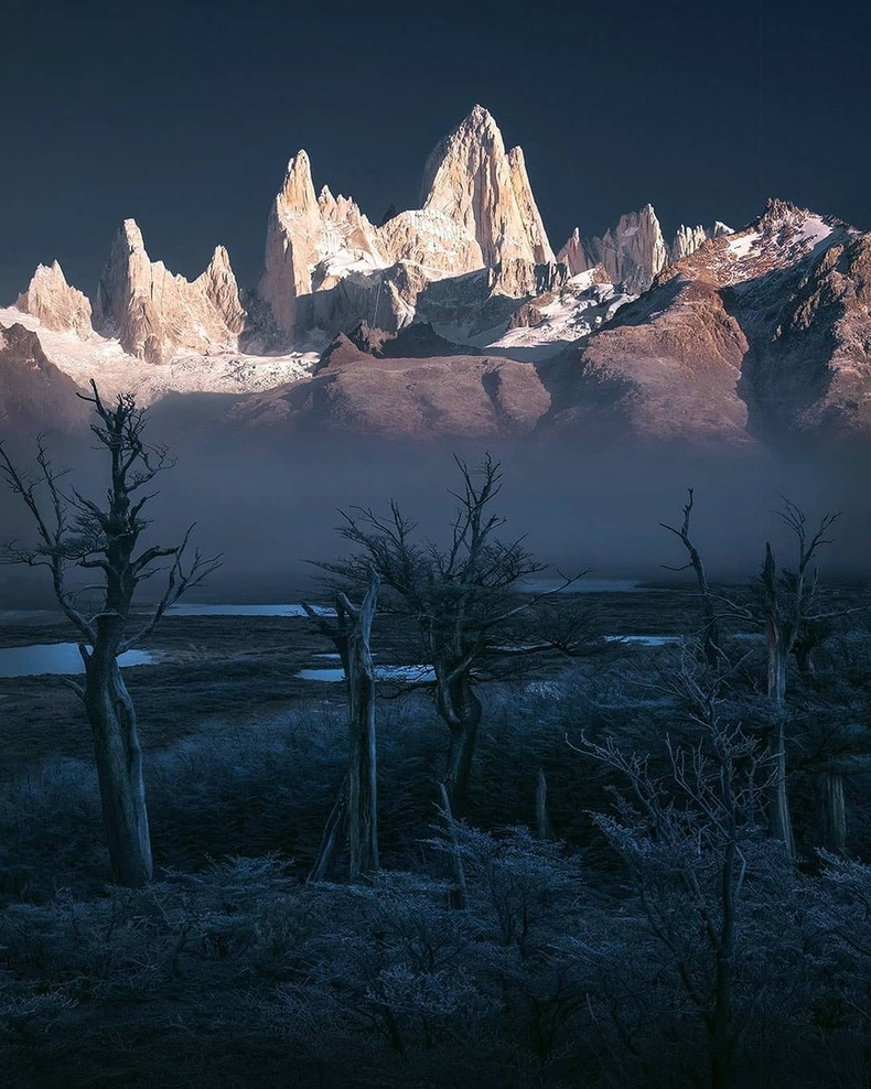 Чили, Аргентины хил дээрх Фиц Рой уул