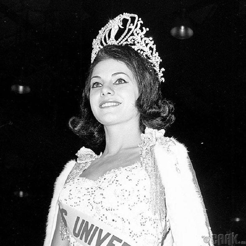 """Miss Universe-1963""-ын ялагч: Бразилын гоо бүсгүй Ида Мария Варгас, 19 настай, 167 см өндөр."