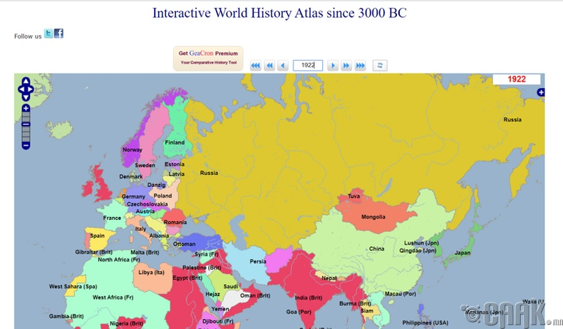 Дэлхийн улс төрийн интерактив газрын зураг