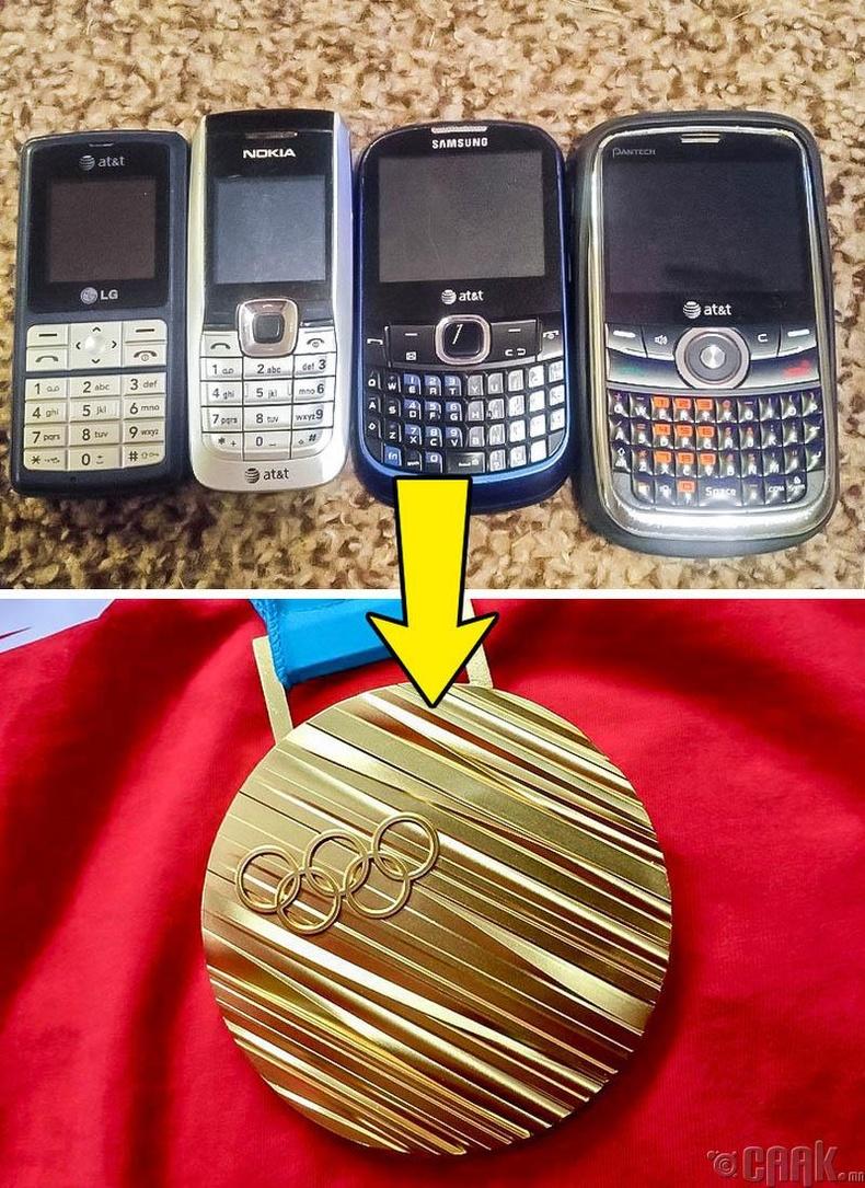 2020 оны олимпын медалийг электроны хаягдлаар хийнэ