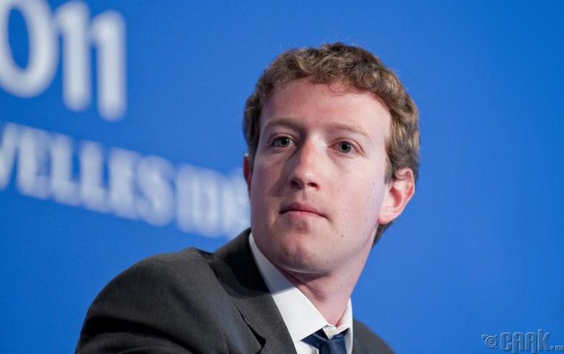 Марк Цукерберг  - 34.8 тэрбум $