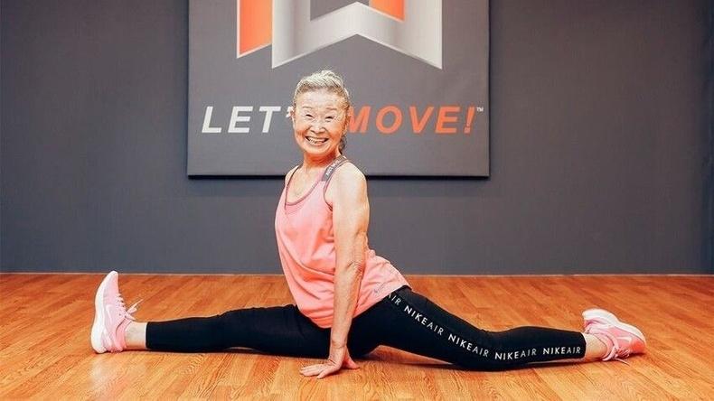 Японы 90 настай фитнесийн багш Такишима Мика