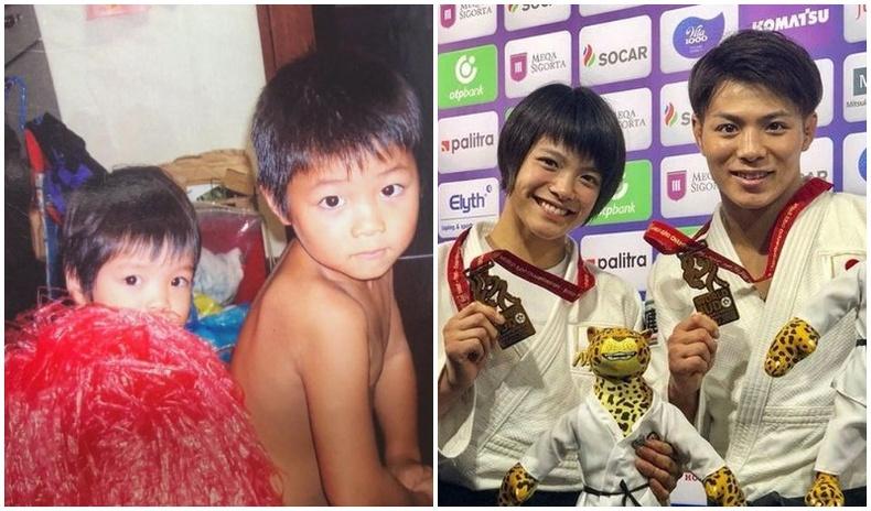 Олимпын аварга болсон ах дүү хоёрын фото түүх